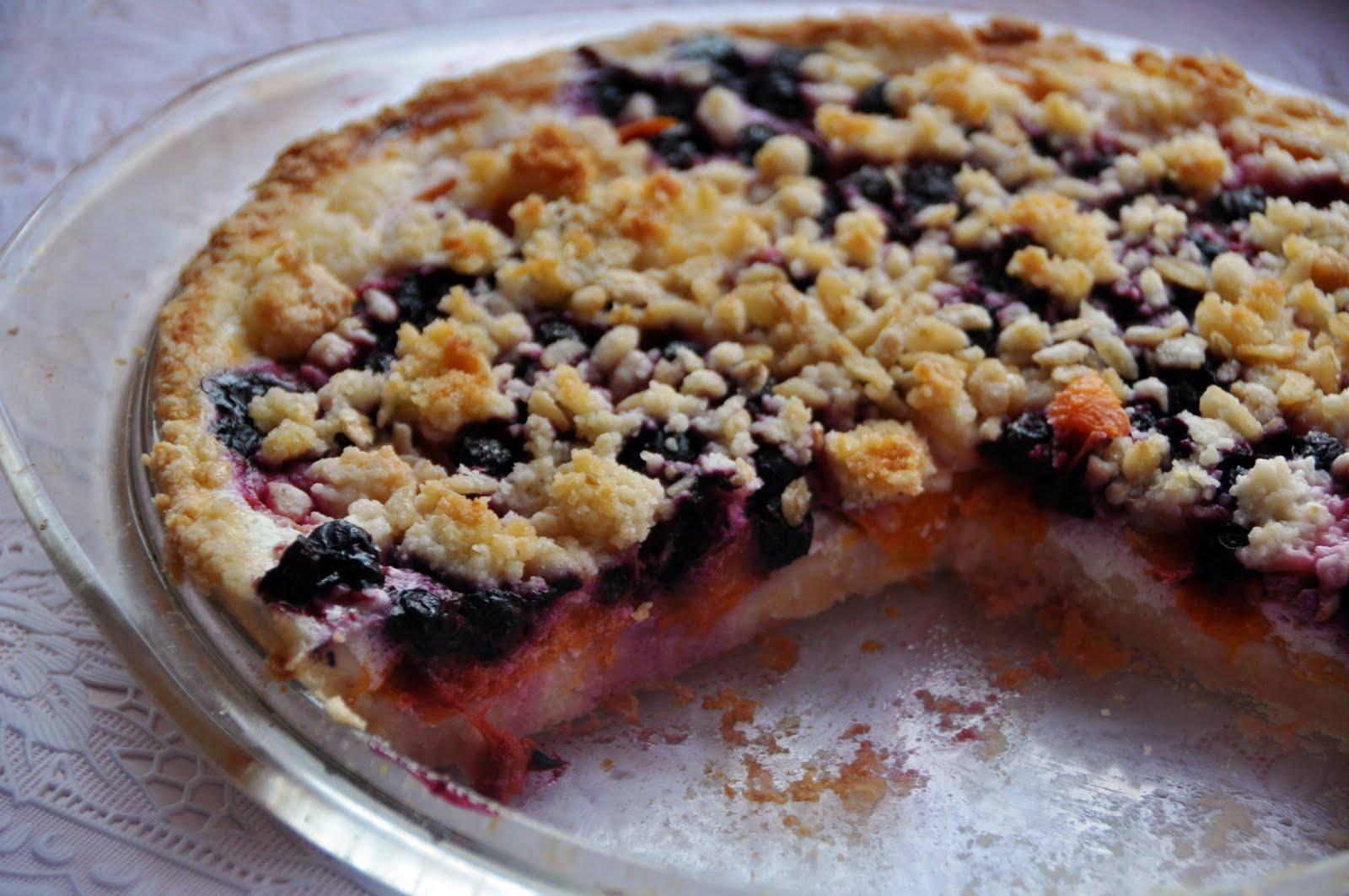 Пирог с черникой песочное тесто рецепт