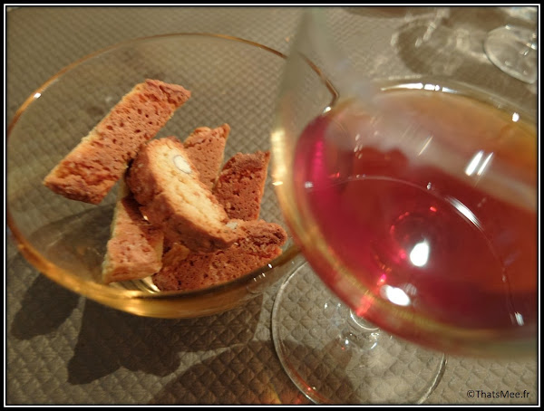 Resto italien Angelo Procopio dessert biscuit sec chianti cantuccini,  resto italien Procopio Angelo Paris 10ème