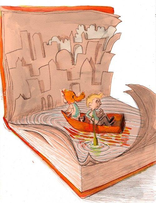 navegando entre as páginas de um livro