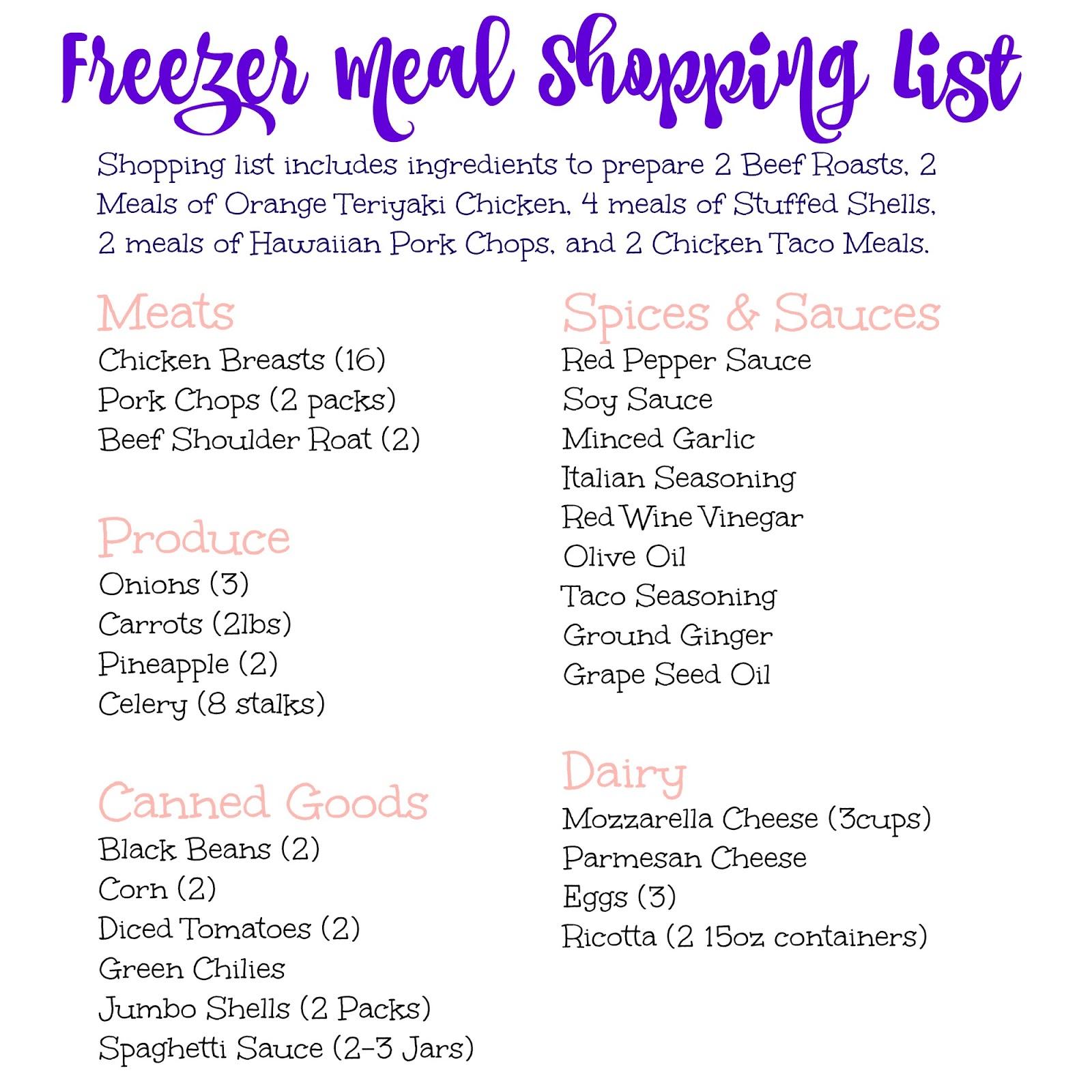 recipes with shopping list - Etame.mibawa.co