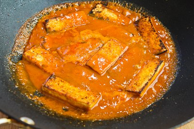 Kalyn's Kitchen®: Spicy Vegan Peanut Butter Tofu with Sriracha