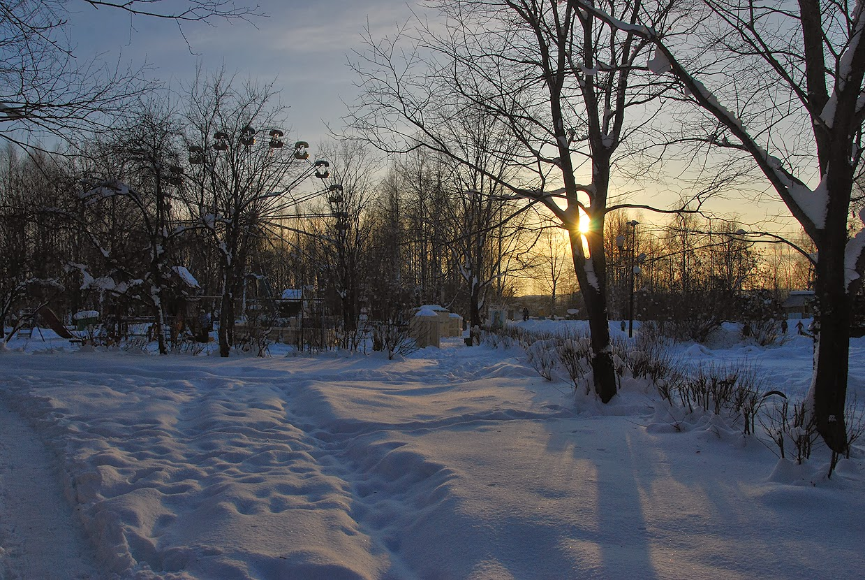 Зимний Лысьвенский парк
