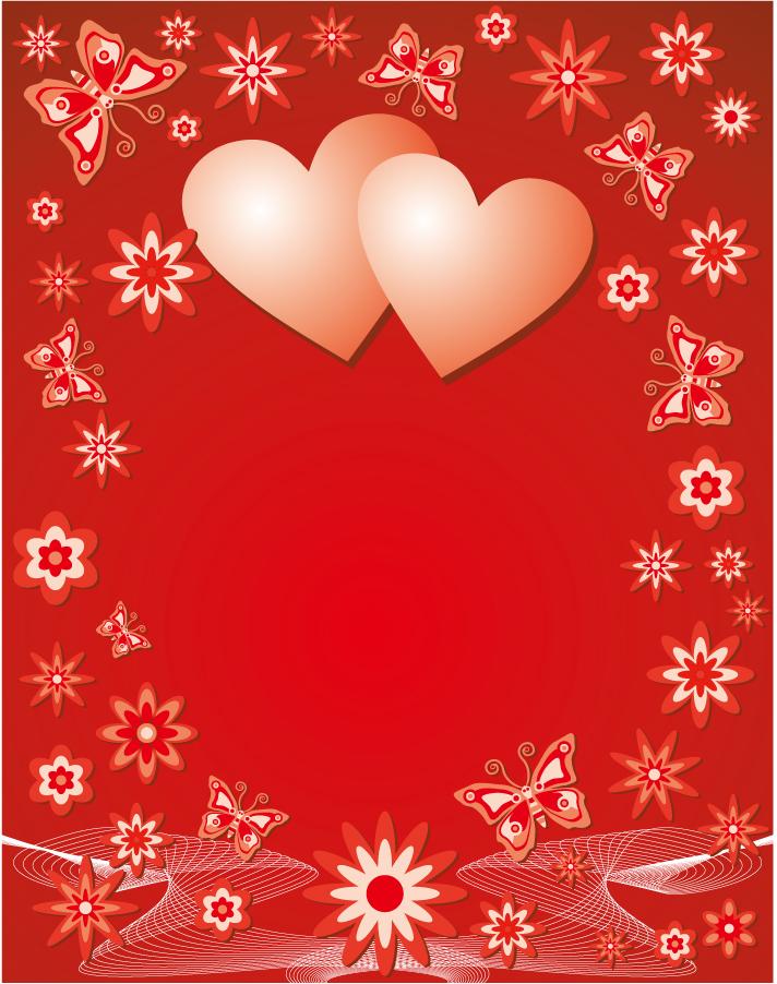 バレンタインデー カードの背景 valentine heart vector イラスト素材2