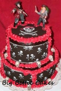 Cake Decorating Classes Near Pomona Ca : Big Bettie cakes: Pirate Wedding cake