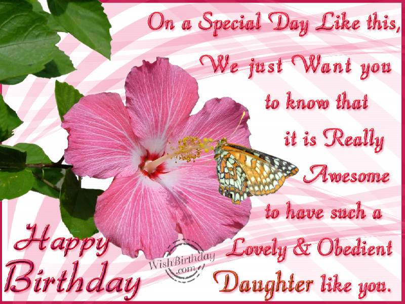 Happy Birthday Greetings for Daughter Lets Celebrate – Happy Birthday Card for My Daughter