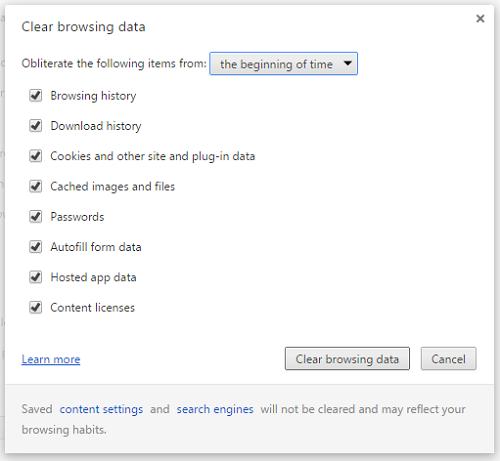 MystartSearch Clear History Chrome