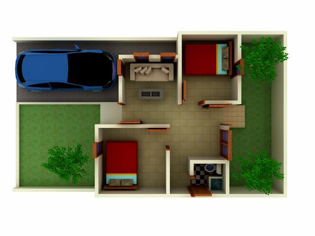 denah rumah dan interior 3d tipe 36 desain denah rumah