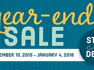 SALE STARTS NOW! Stampin' Up! Year-End Sale. Up to 60% off