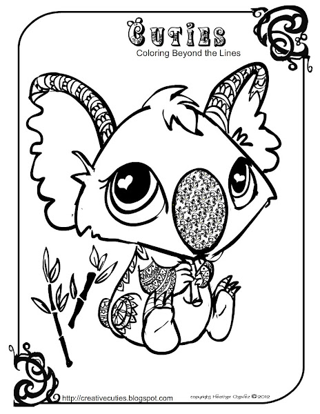 Creative Cuties Coloring Pages