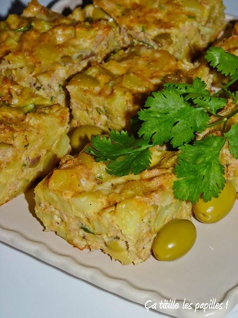 Tajine, Tunisien, Cuisine tunisienne, Thon, Olive, Pommes de terre, Ça titille les papilles !