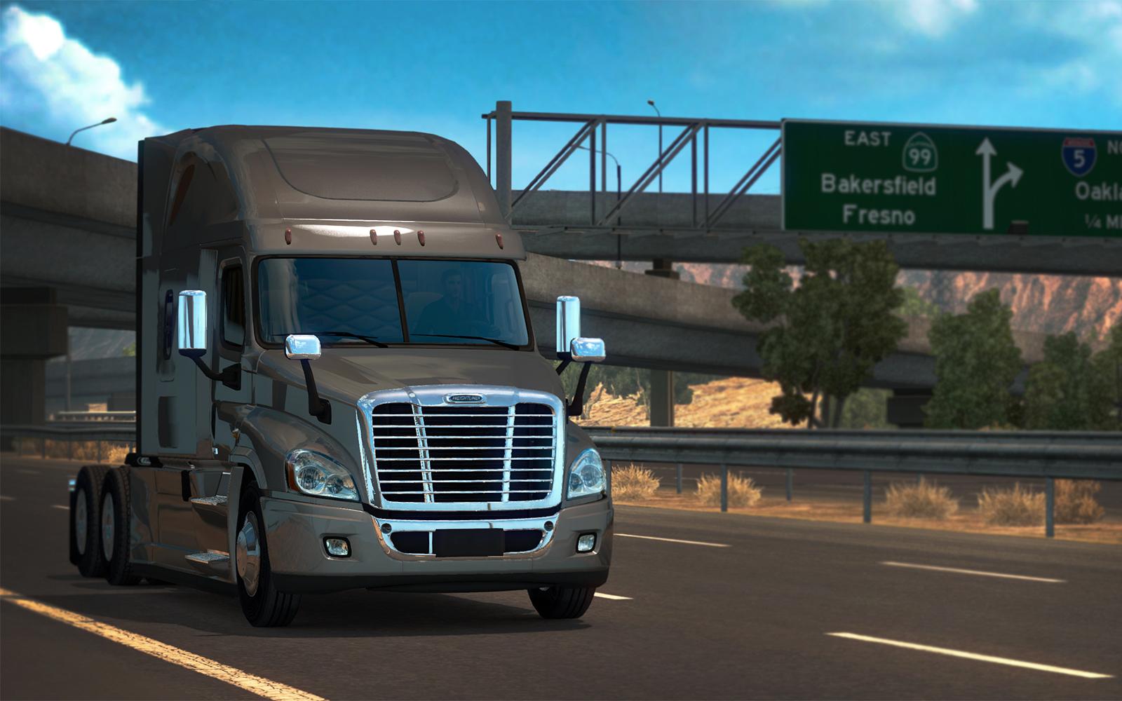 Красивый грузовик, замеченный где-то к северу от Лос-Анджелеса