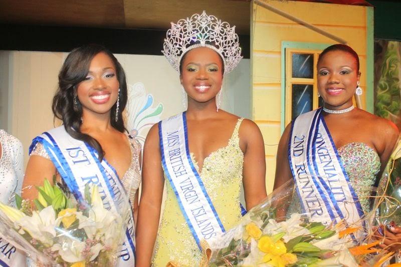 Miss British Virgin Islands 2014 winner Jaynene Jno Lewis
