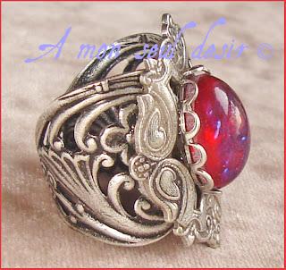 bague medievale renaissance souffle du dragon medieval dragon breath ring