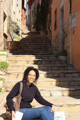 Castle street in Begur