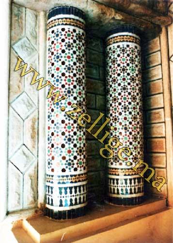 Zellige Colone : Colonnes zellij mosaique marocaine
