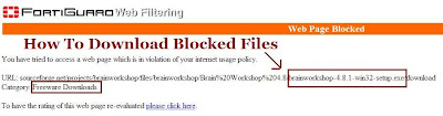 How to download blocked file