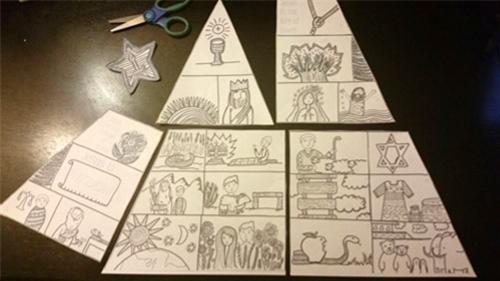 Paper Dali EasyPeasy Jesse Tree Activity