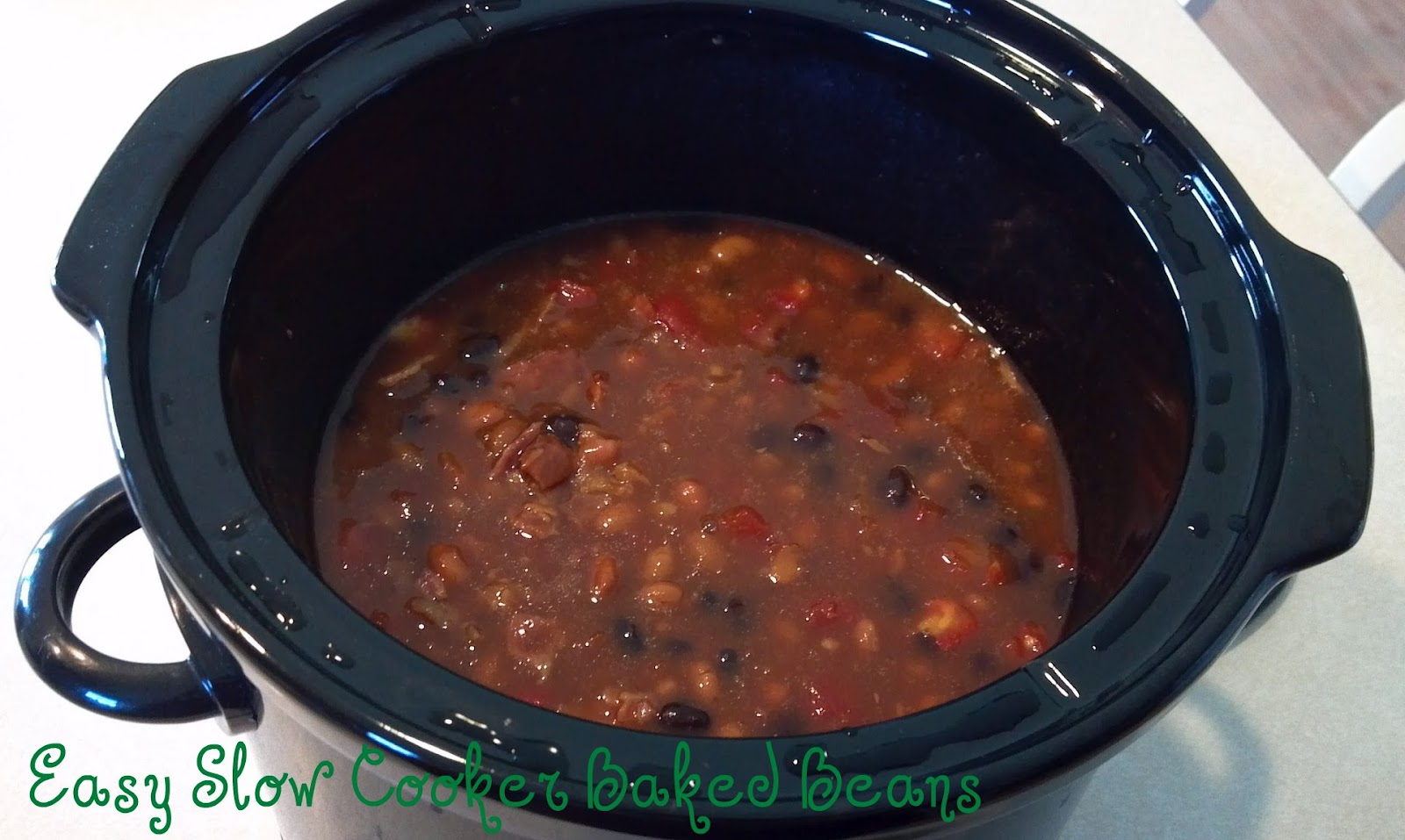 Sew God's Grace: Easy Slow Cooker Baked Beans