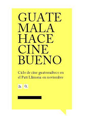 Noviembre de Cine guatemalteco en España