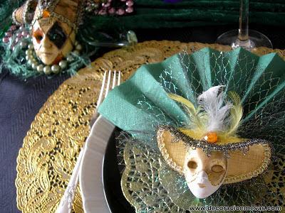 Decoracion mesa de Carnaval 2013 servilletero