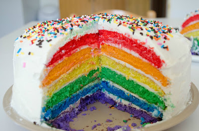 Wonderful Rainbow Cake
