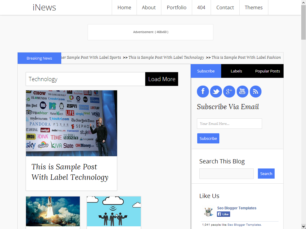 INews 2014 Free Responsive blogger template