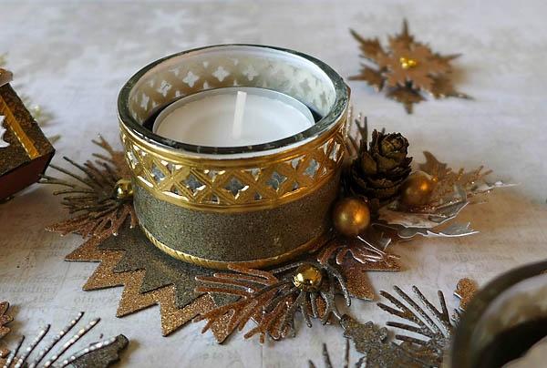 Stempeloase dekorierte teelichtgl ser f r den advent und weihnachten - Glaser dekorieren fur weihnachten ...
