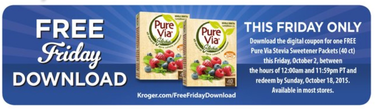 The Kroger Free Friday Download for 12/7/18 is a FREE Aloe GLOE Organic aloe Water, fl oz. Be sure to load the Kroger Digital Coupon to your Kroger card on 12/7/18 (before midnight)! Redeem your FREE item before Sunday, 12/23/
