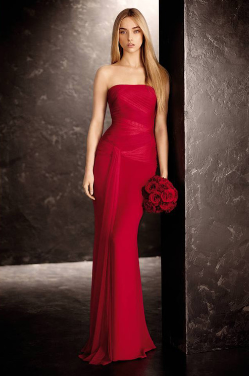 Vera Wang Red Wedding Dress