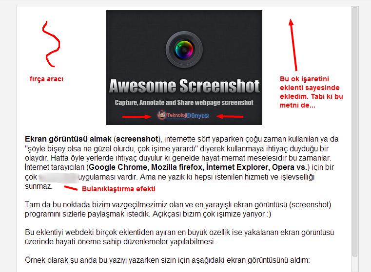 awesome screenshot ile ekran görüntüsü alma