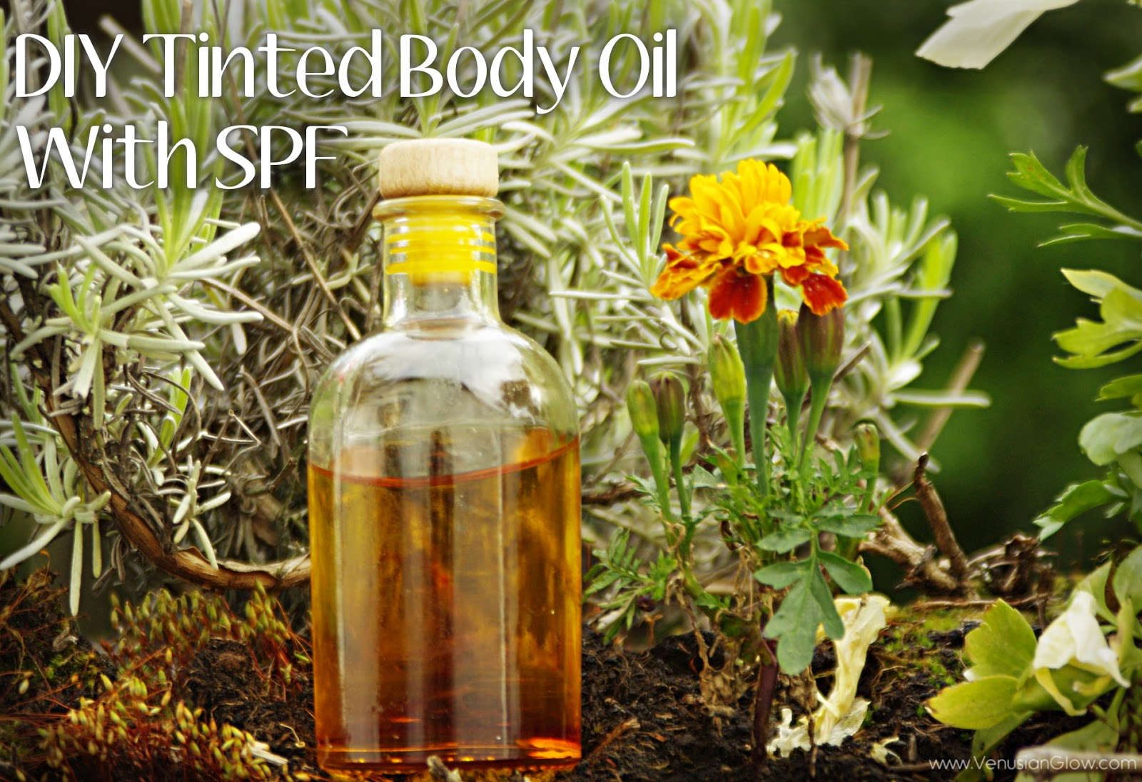 Sunshine Body Oil : DIY Recipe For A Tinted Body Oil With SPF