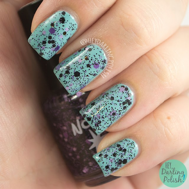 purple, practically purple, nails, nail polish, polish, indie, indie polish, northern star polish, glitter, swatch, hey darling polish,