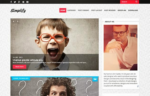 Template Simplify Para Blog de Noticias