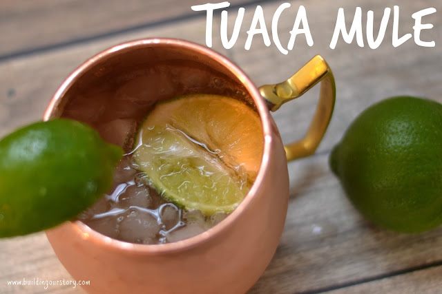 Winter Cocktails With Tuaca Vanilla Citrus Liqueur, TUACA Liqueur, Moscow Mule recipe, Moscow Mule, Winter Cocktails, easy cocktail recipes, TUACA, Hot Apple Pie Cocktail, Warm Cocktails,