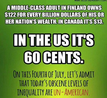 Our middle class is falling further and further behind in comparison to the rest of the world. We keep hearing that America is number one. Well, when it comes to middle-class wealth, we're number 27.