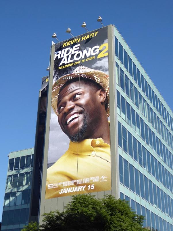 Giant Kevin Hart Ride Along 2 movie billboard