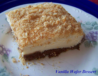 Chocolate Vanilla Wafer Dessert  from 2 Kids and Tired Cooks