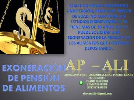 EXONERACIÓN DE PENSIÓN DE ALIMENTOS, y PRESCRIPCIÓN DE PENSIÓN DE ALIMENTOS.