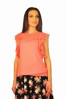 Bluza roz din voal D2105 (Ama Fashion)