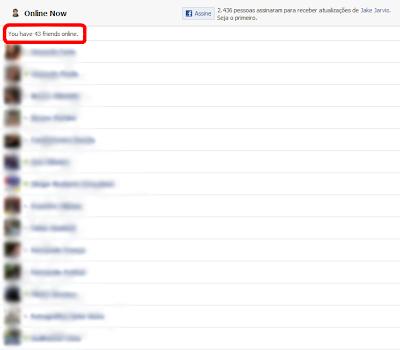 saber quem esta offline facebook