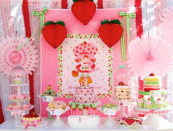 Party Frosting: Strawberry Shortcake Party ideas and inspiration