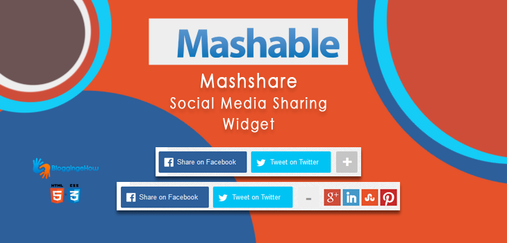 Add Mashable Mashshare Social Sharing Widget to Blogger