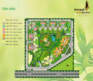 Amrapali Spring Meadows :: Site Plan