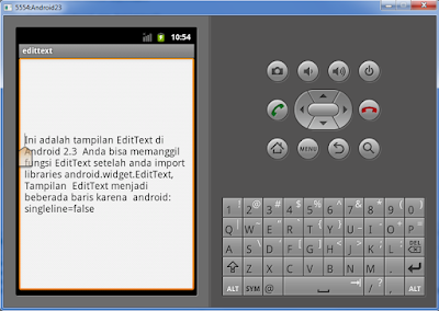 Widget EditText Android