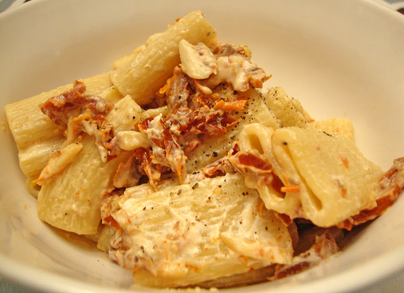 my back pages: rigatoni with goat cheese