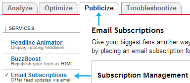 email subscriptions