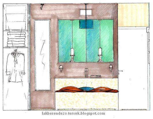 LAKBERENDEZŐ TERVEK: Tetőtéri hálószoba berendezési tervei