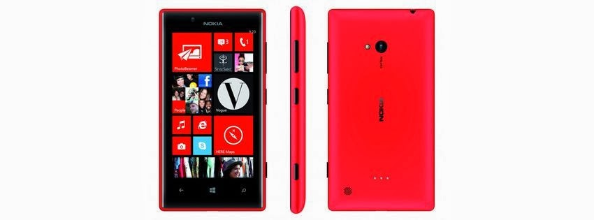 Couverture facebook Nokia lumia rouge