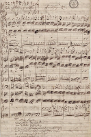 Manuscript of soprano aria from Bach's Cantata BWV 105