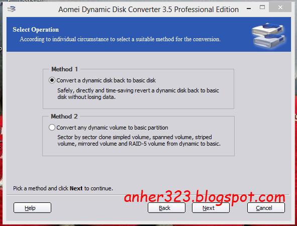 Konvert disk/semua partisi dari Dynamic ke Basic.